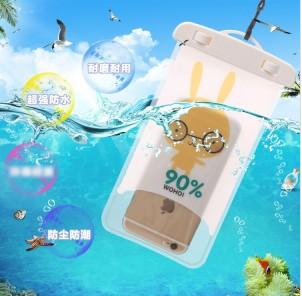 卡通手机防水袋/防尘袋(眼镜兔)A15
