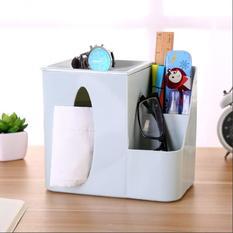 多功能桌面纸巾盒创意遥控器收纳盒(北欧蓝) 50/箱