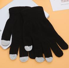 秋冬保暖触摸屏手套--黑色