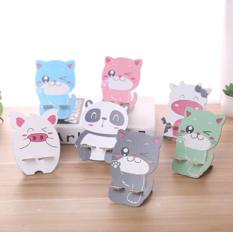 彩印卡通木质懒人手机支架 熊猫 500个/箱