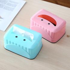 创意可爱笑脸餐厅方形抽纸盒 粉色