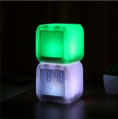 第二代七彩变色心情闹钟(白色无图案) 100/箱 7103