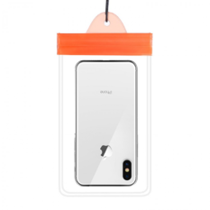魔术贴手机防水袋 橙色