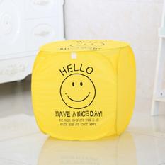 新款大号创意卡通四方脏衣篮-黄色笑脸