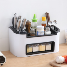 厨房置物架调味盒收纳架(白色)