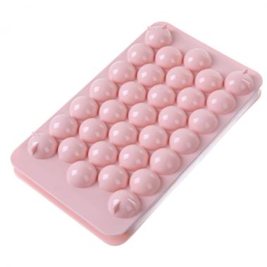 圆珠冰格模 33格 粉色 96/箱